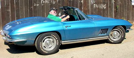 1965 Corvette right side view with Jim