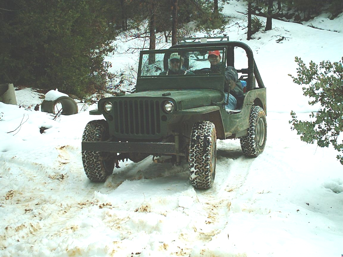 Daryl and Dad jeep trip in snow
