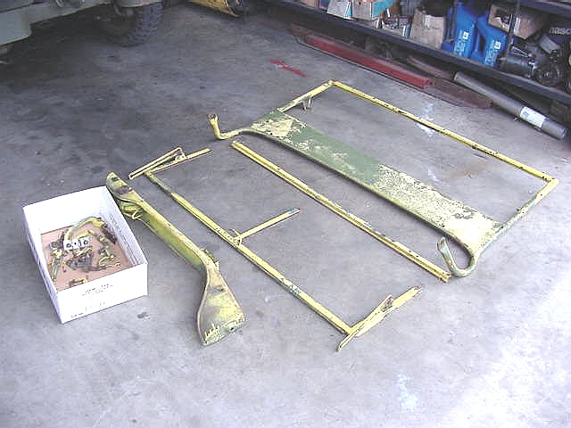 windshield frame parts adjusted